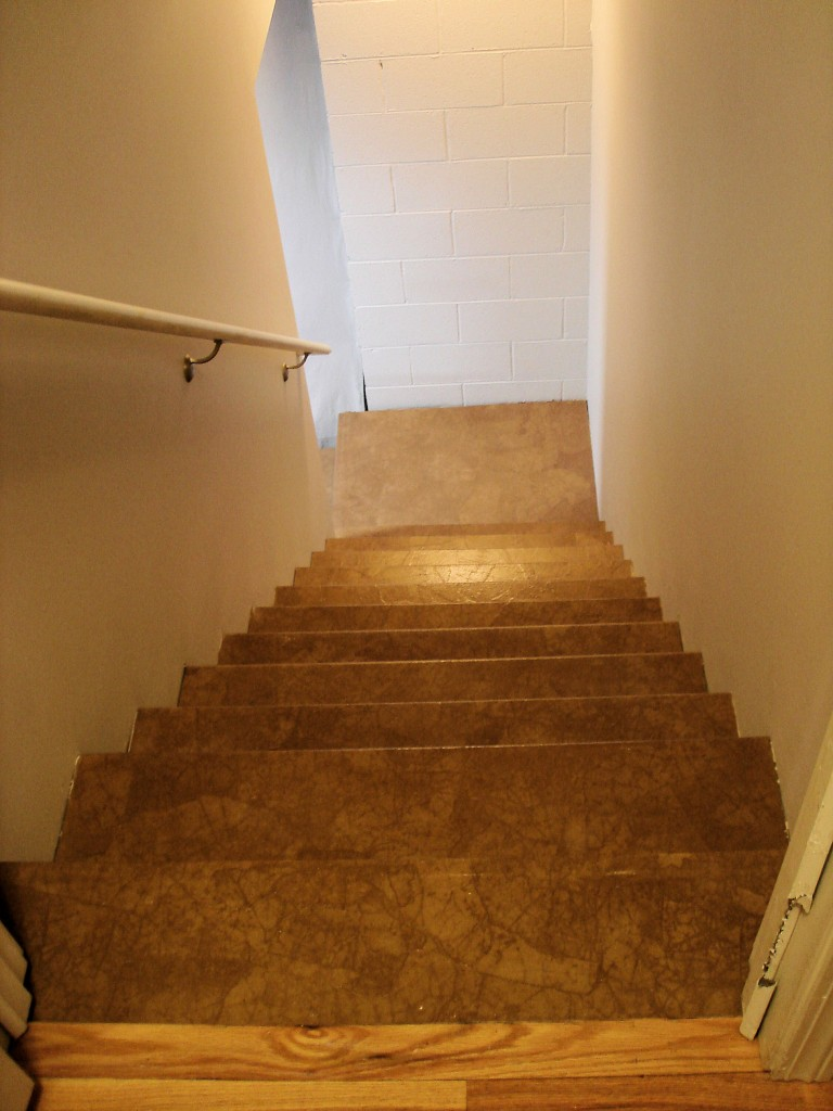 basement stairs natural no stain