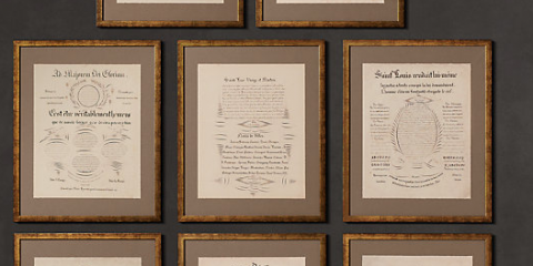 RH framed Manuscripts