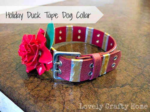 holiday duck tape dog collars