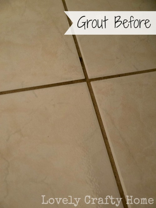 bathroom tile grout before