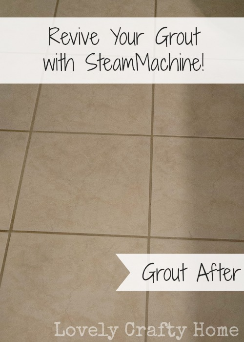 clean your grout with SteamMachine