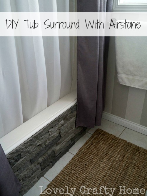diy tub surround using airstone