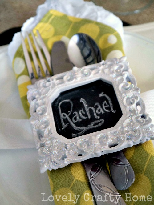 mini chalkboard napkin rings