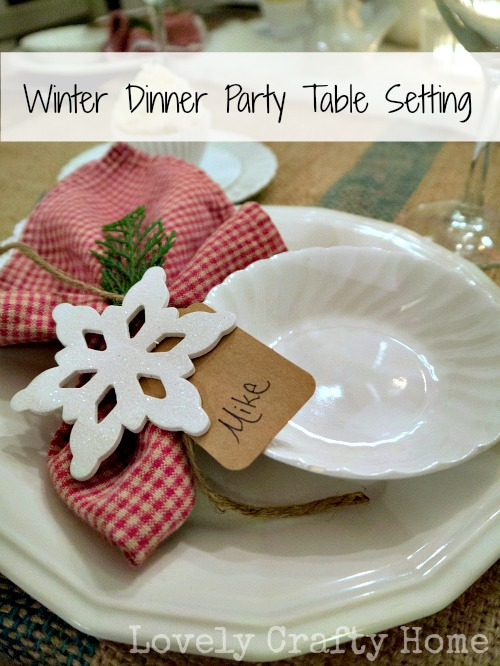 winter dinner party table setting