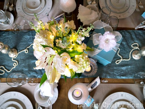 breakfast at tiffany's brunch centerpiece