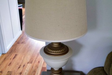 thrifted lamp before