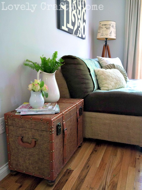 diy trunk side table