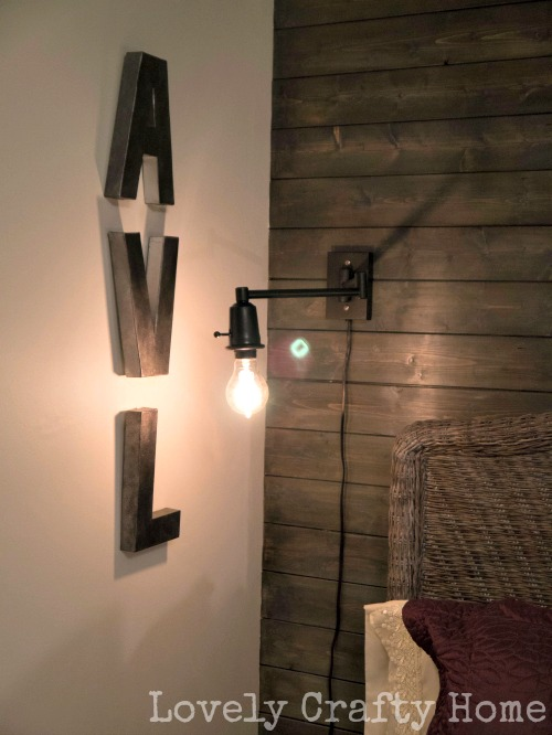 exposed bulb wall sconce
