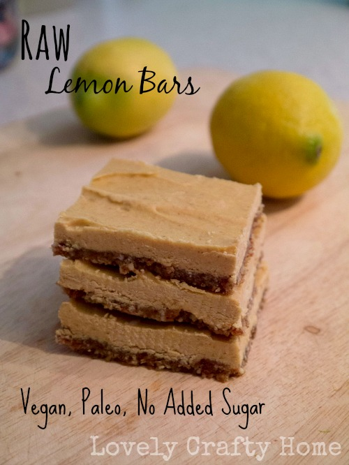 Raw Lemon Bars - Paleo and Vegan
