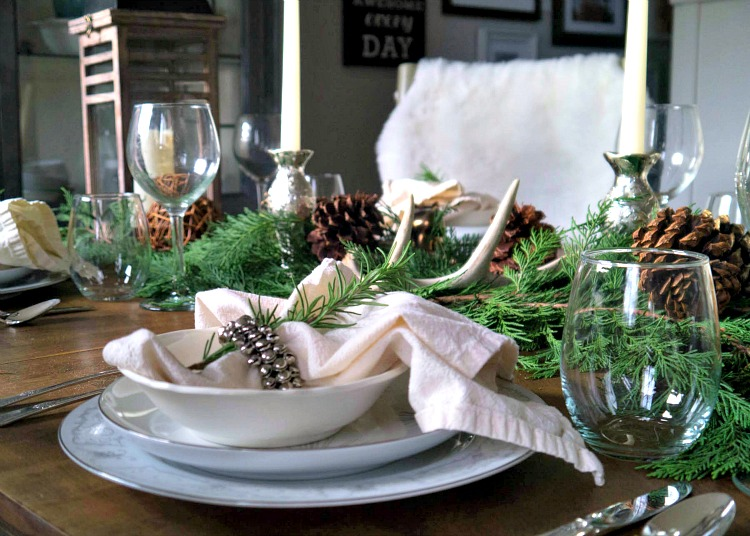 Diy cozy winter tablescape with at home for Diy cozy homes